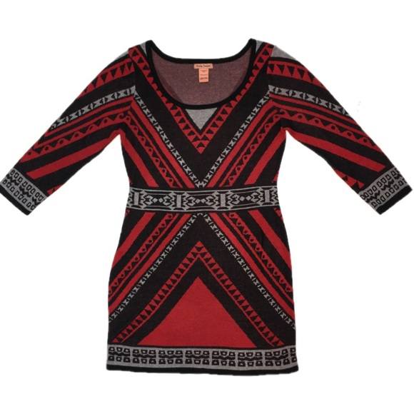 Flying Tomato Dresses & Skirts - Flying tomato fitted sweater dress red black SZ L